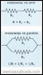 resistencias en serie y paralelo